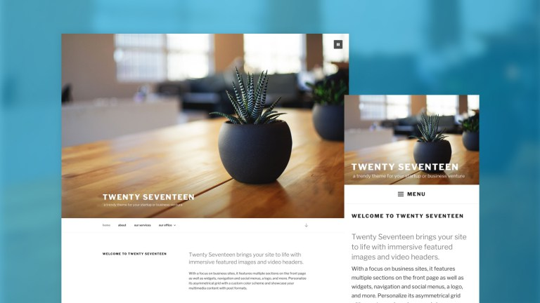 WordPress 4.7 Twenty-Seventeen video